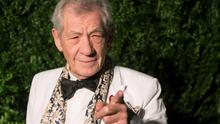 British actor Ian McKellen attends the Evening Standard Theatre awards in London