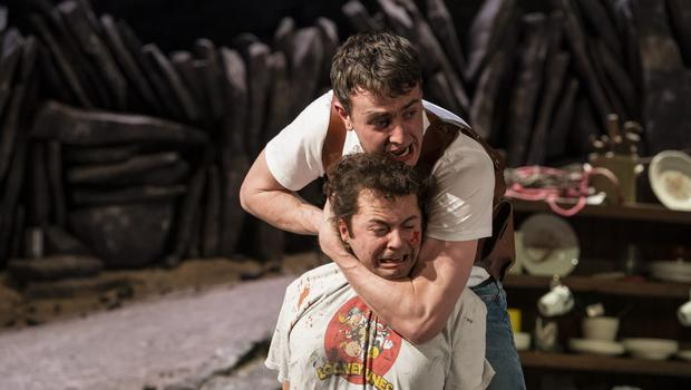First-class: Paul Mescal and Alex Murphy (below) in The Lieutenant of Inishmore. Photo by Patrick Redmond