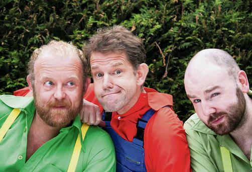Actors Neill Fleming, Matthew Ralli and Paul Marron set to perform 'A Midsummer Night's Dream' in the gardens of Dublin Castle