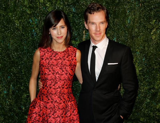 Benedict Cumberbatch with his new fiancee Sophie Hunter