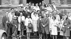 Some of the students attending the Yeats Summer School in Sligo in August 1964