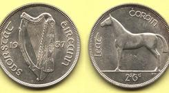 WB Yeats chaired the committee that chose the designs for the first coins for the Free State government in 1926.