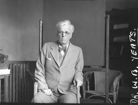A portrait of WB Yeats from the Irish Independent/NPA archives.