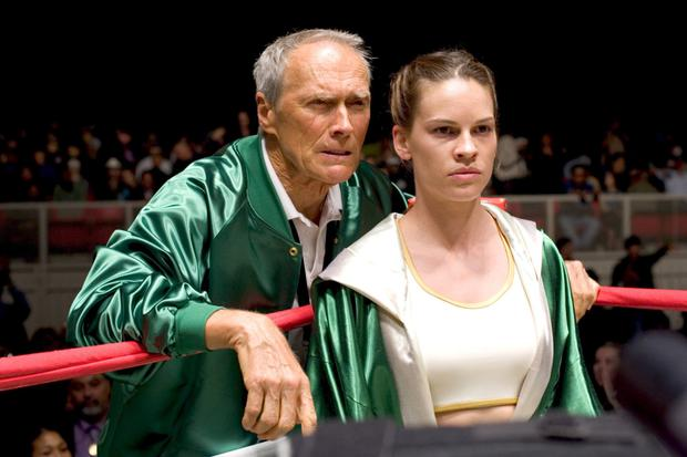 Clint Eastwood and Hilary Swank in 'Million Dollar Baby'.