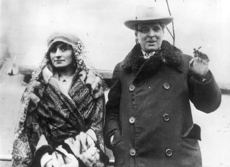 William Butler Yeats with his wife Georgie Hyde Lees, photographed in 1923, the year he won the Nobel Prize in Literature.