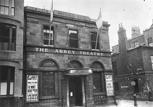 The Abbey Theatre in Dublin, founded by William Butler Yeats and Lady Gregory.