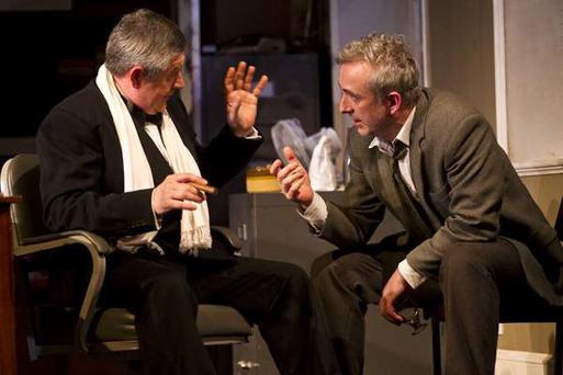 Declan Conlon and Denis Conway in The Gigli Concert at the Gate Theatre