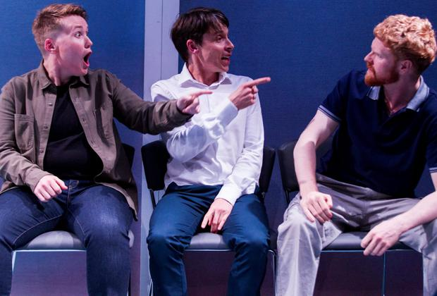 Absorbing: Amy Conroy, Will O' Connell and Mark Fitzgerald in Luck Just Kissed You Hello' at the Mick Lally Theatre at the Galway Arts Festival
