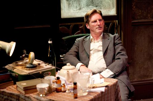 Adrian Dunbar, seen here as Brendan Behan in 'Brendan at Chelsea' at the Lyric in Belfast, will head the cast in Conor McPherson's latest play 'The Night Alive'.