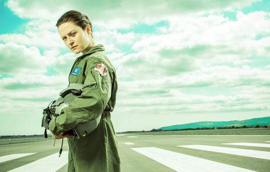 Lady pilot: Clare Dunne shoots drones into Afghanistan in Grounded at the Tiger Dublin Fringe