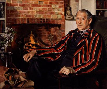 Sir John Collings Squire, by John Mansbridge, 1932-1933, from London's National Portrait Gallery
