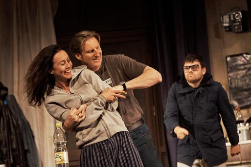 McPherson at his best: Kate Stanley Brennan, Adrian Dunbar and Laurence Kinlan in the Night Alive