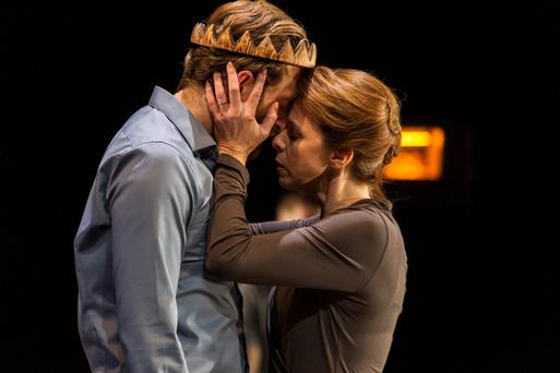 Chilling: Barry John O'Connor and Fiona Bell in 'Oedipus' at the Abbey Theatre.