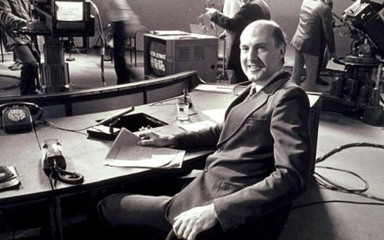 Here is the news: Gordon Honeycombe was an ITN newsreader.