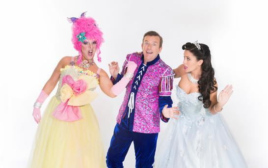 Relaxed feel: Alan Hughes (middle) as Sammy Sausages in Beauty and the Beast at The Tivoli