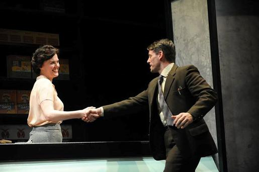 Maggie's back: Aisling O'Sullivan and Keith Duffy in Druid's Big Maggie, which returns this month.