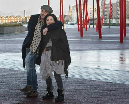 Actors Shane Richie and Jessie Wallace pictured at The Bord Gais Energy Theatre Dublin when they announced details of their comedy thriller The Perfect Murder. Photo credit: Brian McEvoy Photography