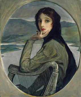 'Portrait of Lady Lavery as Kathleen Ni Houlihan' by John Lavery.