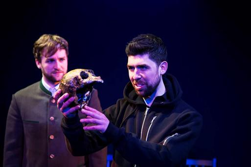 Rex Ryan as Hamlet (right) and Killian Coyle as Horatio in AC Productions' staging of William Shakespeare's play.