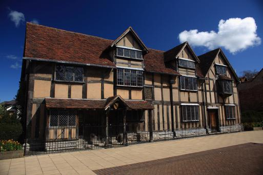 William Shakespeare's birthplace in Stratford-Upon-Avon.