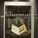 A copy of William Shakespeare's The First Folio, 1623 sits on display at Sotheby's auction house in 2006