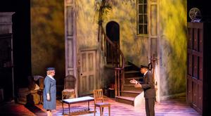 Gwen Taylor and Ernest Perry Jr in Driving Miss Daisy at the Gaiety Theatre.