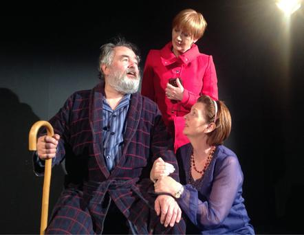 John Olohan, Deirdre Monaghan and Paula Greevy-Lee in 'This Old Man' at the Viking Theatre in Clontarf.