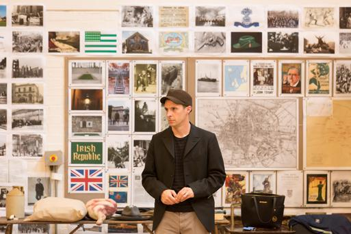 Homesick: Tom Vaughan-Lawlor is playing The Covey in The Plough and the Stars