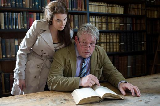 Seamus O'Rourke and Zara Burdon Yeates in The Mysterious History of Things at the Viking