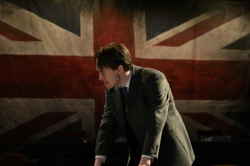 Stepping into Neeson's shoes: Dominic MacHale plays Michael Collins in The Great Arrangement