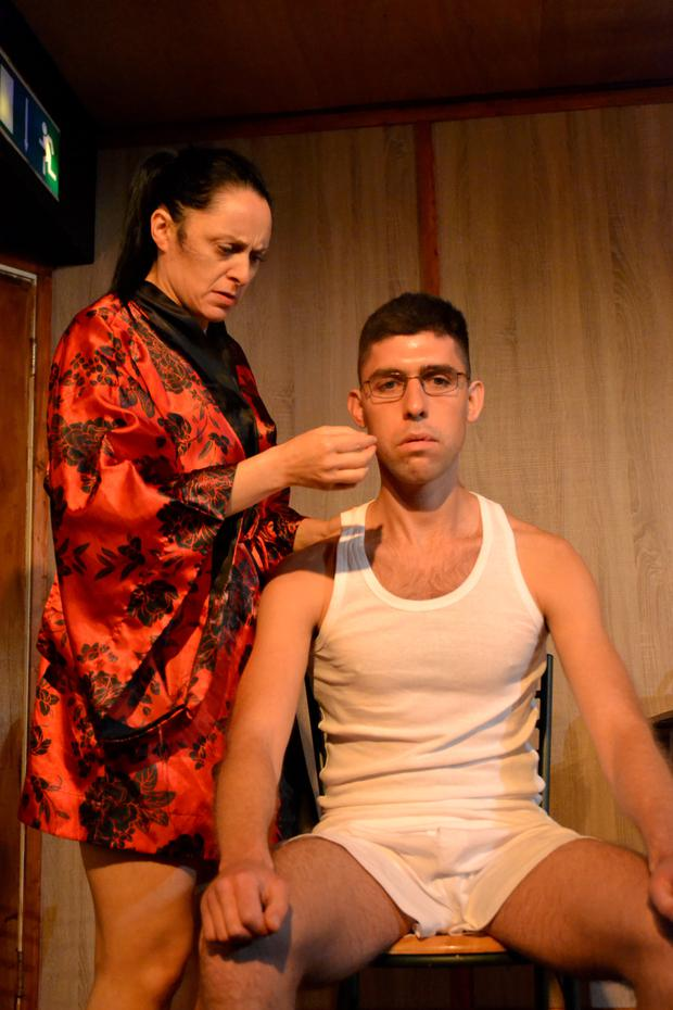 Mary Murray and Rex Ryan in 'Bug' at the Viking Theatre in Clontarf