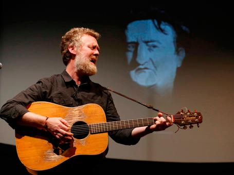 The inaugural DIT Brendan Behan Award presented this evening to internationally acclaimed song-writer, musician, actor and Dubliner, Glen Hansard. Photo: Sasko Lazarov
