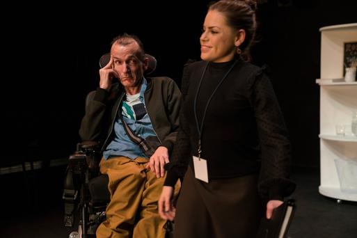 Donal Toolan and Grainne Hallahan in 'Mainstream' at the Project