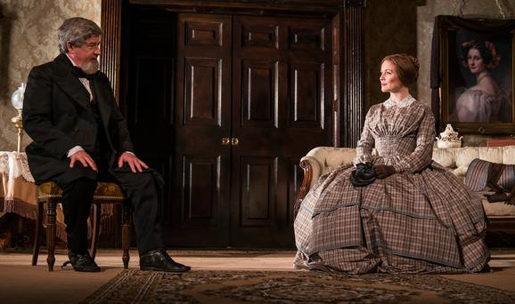 Denis Conway and Tara Egan Langley in 'The Heiress', based on 'Washington Square' by Henry James, and now playing at the Gate Theatre