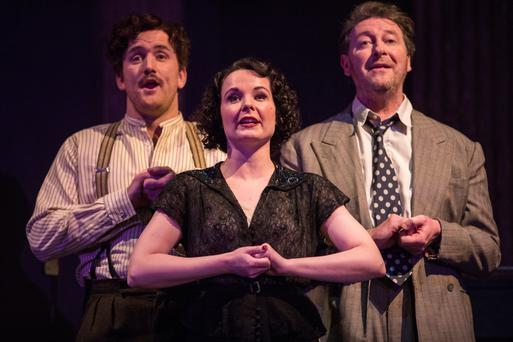 Rory Nolan, Karen McCartney and Risteard Cooper in 'Jacques Brel...' at the Gate