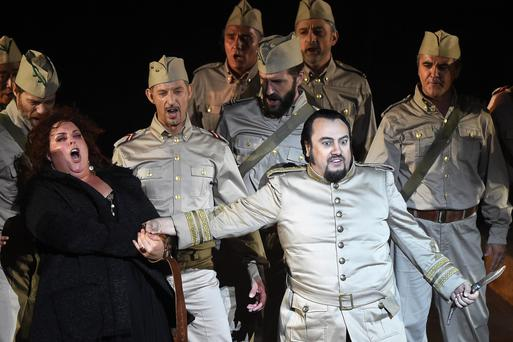 Huge hit: a 2015 performance of Il Trovatore in France