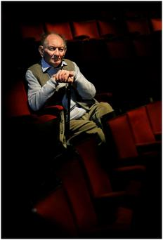 The late Brian Friel in the Gaiety stalls in 2010. Photo: Steve Humphreys