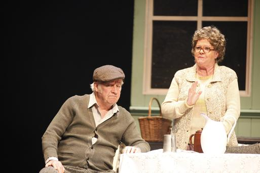 Stephen Brennan and Maria McDermottroe in JB Keane's 'The Chastitute' at the Gaiety