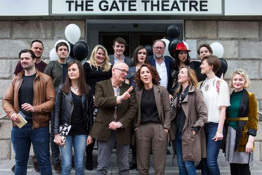 Unlocking the Gate: New Gate Director Selina Cartmell (front centre) with some of the producers, actors and writers involved in the theatre's new programme, unveiled last month