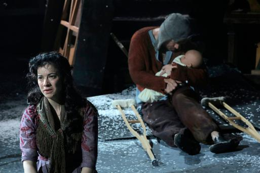 Camille O'Sullivan as Marie and Rory Nolan as Karl.