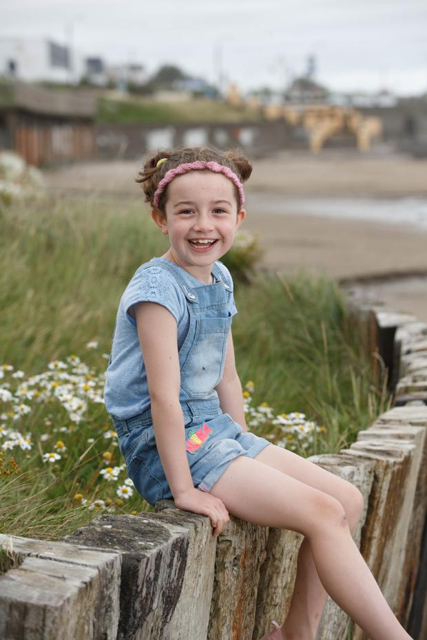 Cadhla McAnally (7) on Portmarnock beach. Photograph: ©Fran Veale.