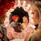Off to the ball: Samantha Mumba and Leanne Moore in Cinderella