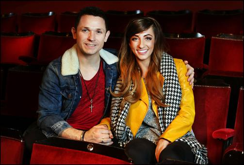 Johnny Ward and Rachel Tracey are appearing in 'Rapunzel' at the Gaiety Theatre. Photo: Steven Humphreys