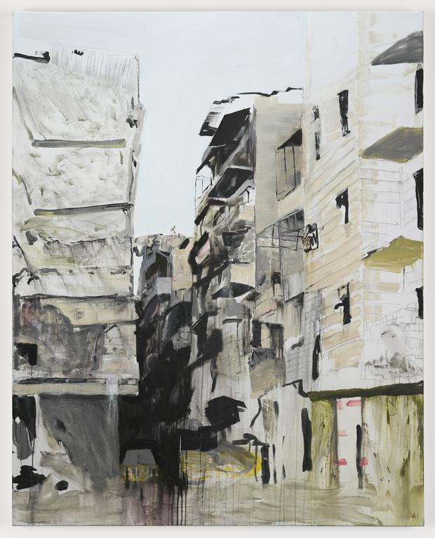 From the Brian Maguire exhibition, War Changes Its Address: The Aleppo Paintings
