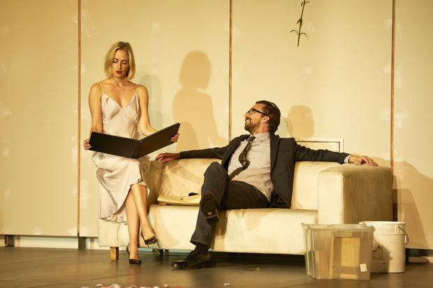 Lizzy Watts and Richard Pyros in Hedda Gabler, coming to the Gaiety in March