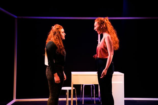 Gemma Kane and Megan O'Malley in 'Home' at the New Theatre