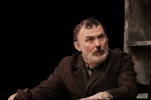Tommy Tiernan as Thomasheen Sean Rua in Druid's production of Sive by John B Keane at the Gaiety Theatre. Photo: Ros Kavanagh