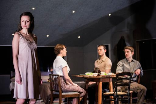 From left, Clare Dunne, Vanessa Emme, Lloyd Cooney and Ian Toner in Look Back in Anger at The Gate