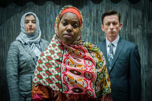 Julie Maxwell, Raquel McKee and Tony Flynn in 'Lives in Translation' at the Civic Theatre