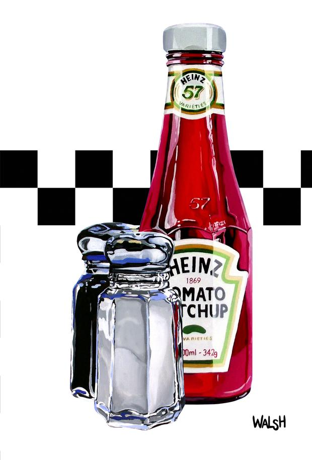 Heinz Ketchup print by artist Orla Walsh